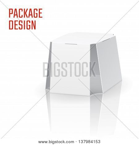 Vector Illustration of Clear Craft Box for Design, Website, Background, Banner. Retail Folding package Template. Fold pack Blank for beer or soda for your brand on it