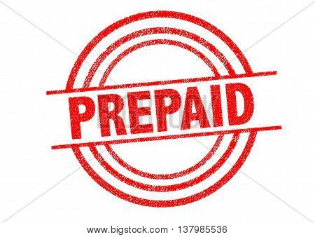 PREPAID Rubber Stamp over a white background.