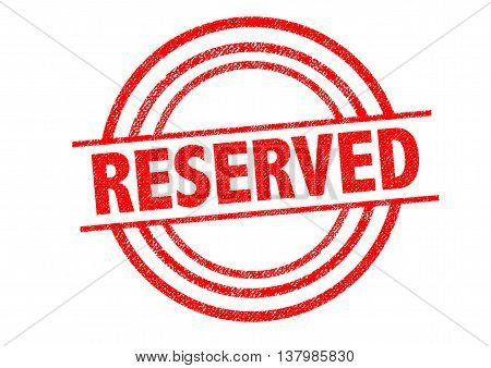 RESERVED Rubber Stamp over a white background.