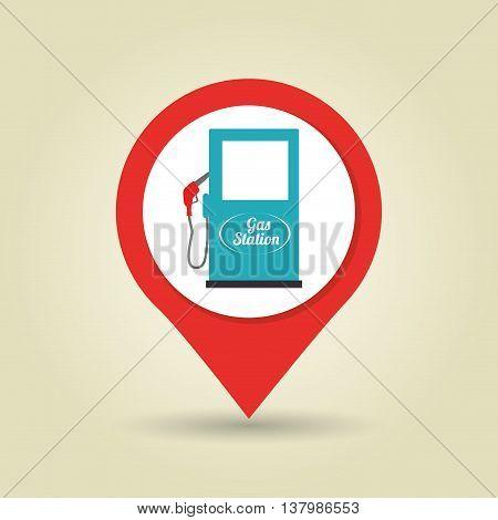gasoline signal isolated icon design, vector illustration  graphic