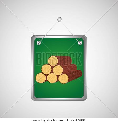 lumber in a green concept, vector illustration