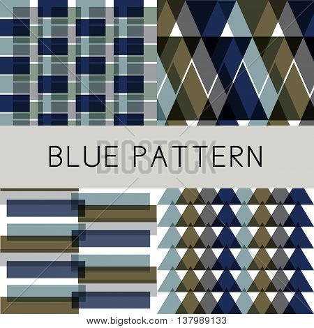Abstract pattern with rectangular and triangle are arranged in different pattern. They can be used as background in monitor screen or printed as pattern for paper.
