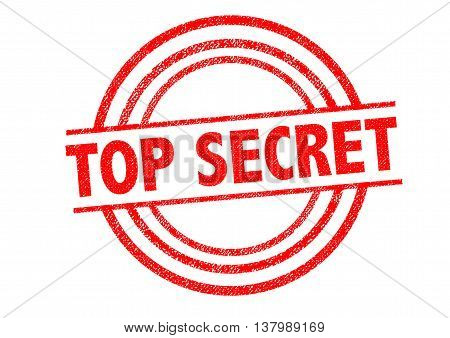 TOP SECRET Rubber Stamp over a white background.