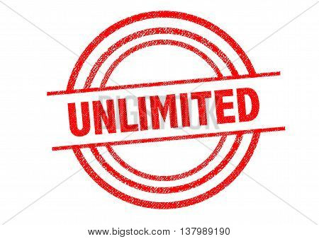 UNLIMITED Rubber Stamp over a white background.