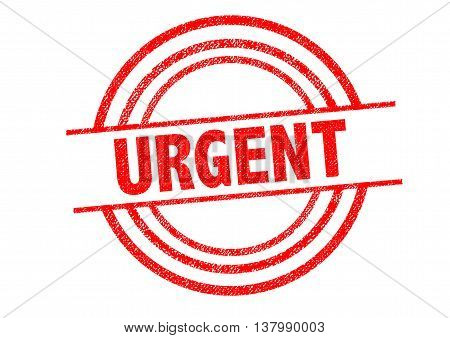 URGENT Rubber Stamp over a white background.
