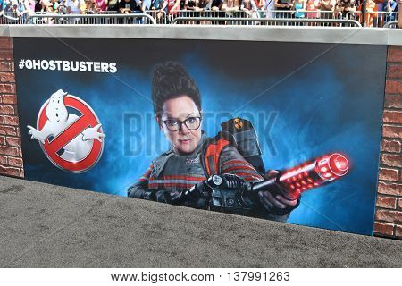LOS ANGELES - JUL 9:  Melisa McCarthy Ghostbusters Poster at the Ghostbusters Premiere at the TCL Chinese Theater IMAX on July 9, 2016 in Los Angeles, CA