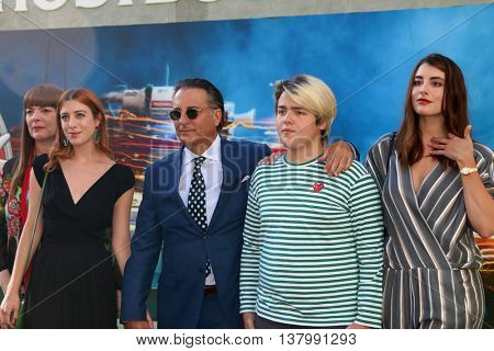 LOS ANGELES - JUL 9:  Andy Garcia, family at the Ghostbusters Premiere at the TCL Chinese Theater IMAX on July 9, 2016 in Los Angeles, CA