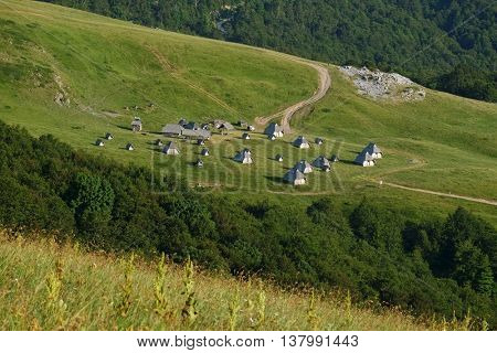 Village Landscape in Biogradska Gora National Park, Montenegro