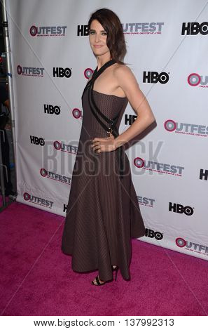 LOS ANGELES - JUL 7:  Cobie Smulders at the 2016 Outfest Los Angeles LGBT Film Festival Opening Night Gala at the Orpheum Theatre on July 7, 2016 in Los Angeles, CA