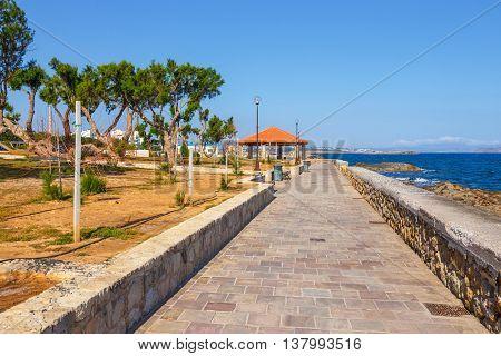 Embankment  In Chania, Crete, Greece