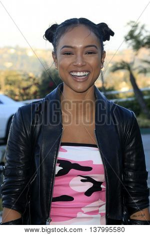 LOS ANGELES - JUL 7:  Karrueche Tran at the Pretty Little Thing Launch at the Private Residence on July 7, 2016 in Los Angeles, CA