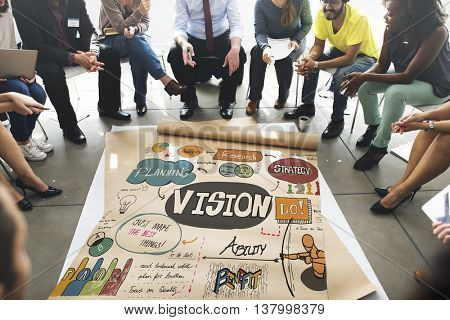 Vision Strategy Research Design Innovation Ideas Concept