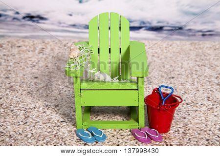 A beach themed still life for the summer season
