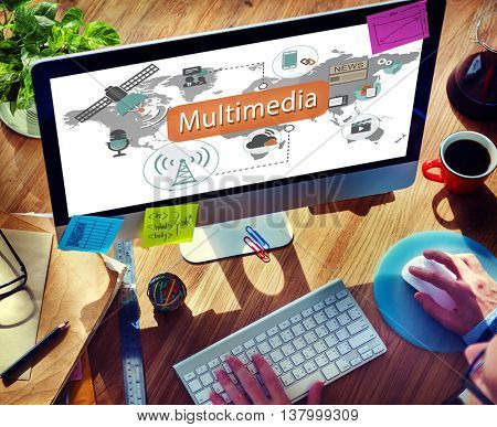 Multimedia Communication Audio Animation Concept