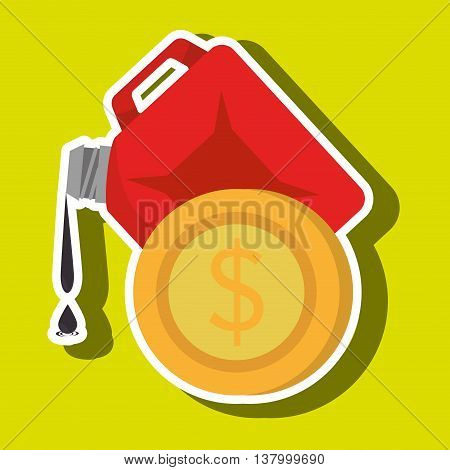 gallon gasoline isolated icon design, vector illustration graphic