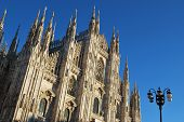 pic of milan  - The Duomo gothic cathedral of Milan - JPG