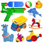 image of dumper  - toy great set vector - JPG