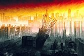 picture of nuclear disaster  - A Armageddon type scene after a war or a natural disaster - JPG