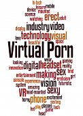 Virtual Porn, Word Cloud Concept 9 poster