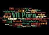 Vr Porn, Word Cloud Concept 5 poster