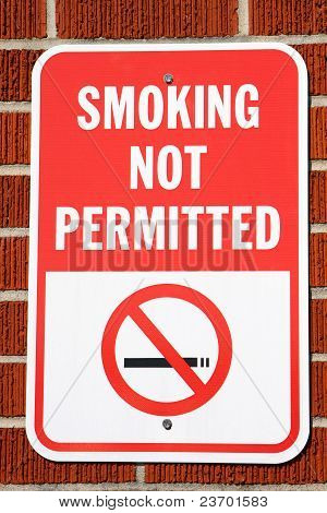 Smoking Not Permitted Sign