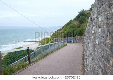 Vista de la playa de Bournemouth