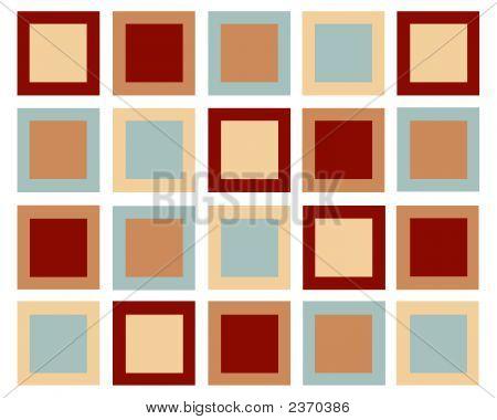 Retro Squares Design In Muted Colors