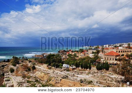The ancient town of Byblos (Jbeil) in Lebanon