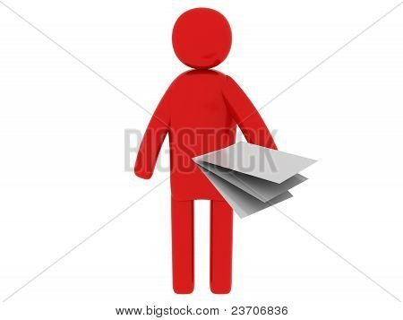 Red Man With Papers - Social Themes