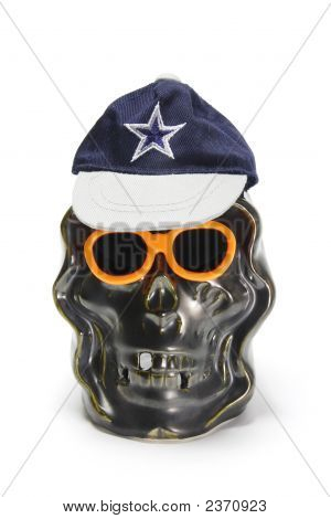 Skull With Hat And Sunglasses