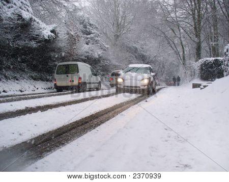 Autos-Schnee