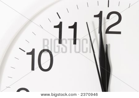 Close-Up Of Clock Face