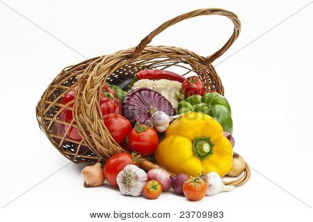 The Group Of Vegetables In Bascet