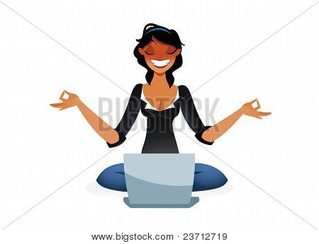 Zen business woman