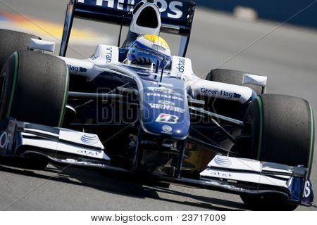 VALENCIA, SPAIN - AUGUST 22: Formula 1 Grand Prix of Europe in Valencia Street Circuit - Nico Rosberg with FW31 of Williams Toyota August 22, 2009 in Valencia, Spain