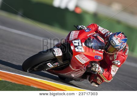 VALENCIA, SPAIN - NOVEMBER 6: MotoGP  Comunitat Valenciana - Nicky Hayden - on November 6, 2009 in Valencia, Spain
