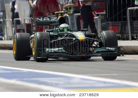 VALENCIA, SPAIN - JUNE 26: Formula 1 Valencia Street Circuit - Kovalainen - June 26, 2010 in Valencia, Spain