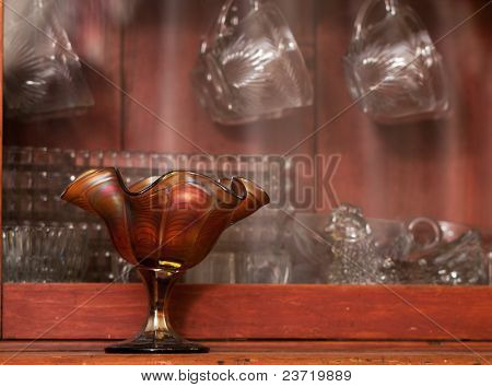 Antique Glassware Display