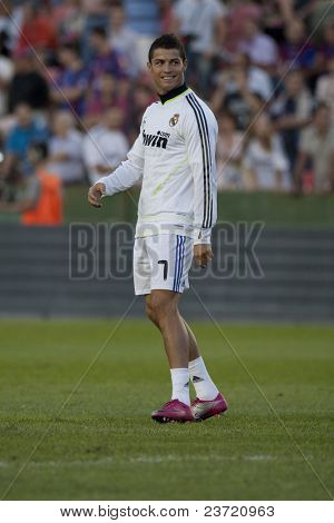 VALENCIA, SPAIN - SEPTEMBER 25:Spanish Professional Soccer League, Levante U.D. vs Real Madrid - Ciudad de Valencia Stadium - Cristiano Ronaldo - Spain on September 25, 2010 in Valencia.