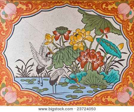 Murals On The Walls Of Chinese Temple