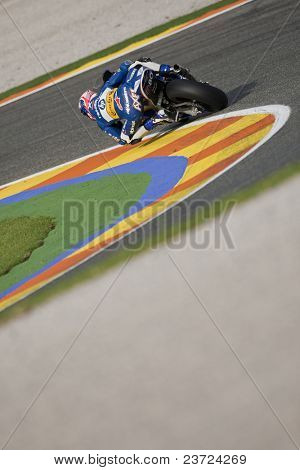 VALENCIA, SPAIN - NOVEMBER 7: Axel Pons in motogp Grand Prix of the Comunitat Valenciana, Ricardo Tormo Circuit of Cheste on November 7, 2010 in Valencia, Spain