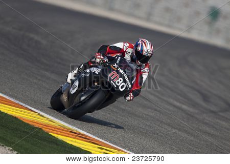 VALENCIA, SPAIN - FEBRUARY 10: - Moto2 and 125cc Test - Axel Pons - on February 10, 2011 in Cheste, Valencia, Spain