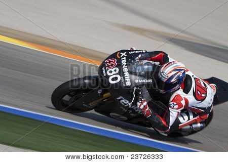 VALENCIA, SPAIN - FEBRUARY 11: Participant in the Moto2 and 125cc Test - Axel Pons - on February 11, 2011 in Cheste, Valencia, Spain