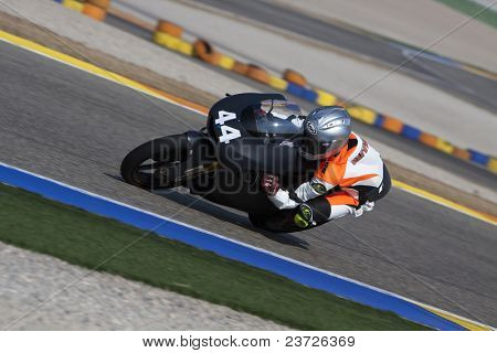 VALENCIA, SPAIN - FEBRUARY 11: Participant in the Moto2 and 125cc Test - Oliveira - on February 11, 2011 in Cheste, Valencia, Spain