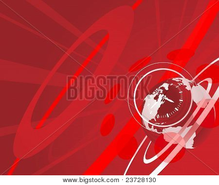 Globe And Clock Background