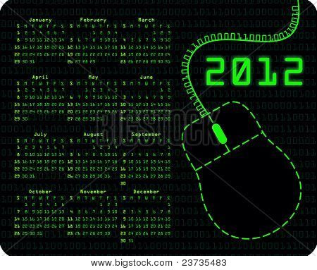 Binary Code Calendar On Mousepad