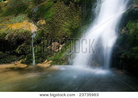 Waterfall In The Narrow Pass Of The Beyos