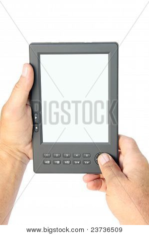 Electronic Book In Hands