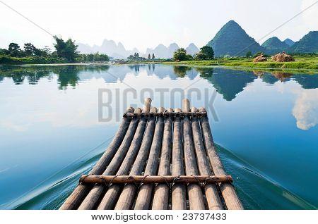 Bamboo Rafting In Li River