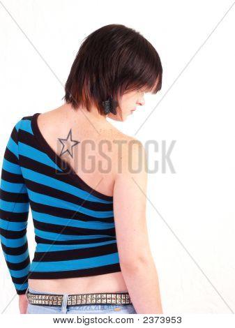 Brunette Rocker Girl